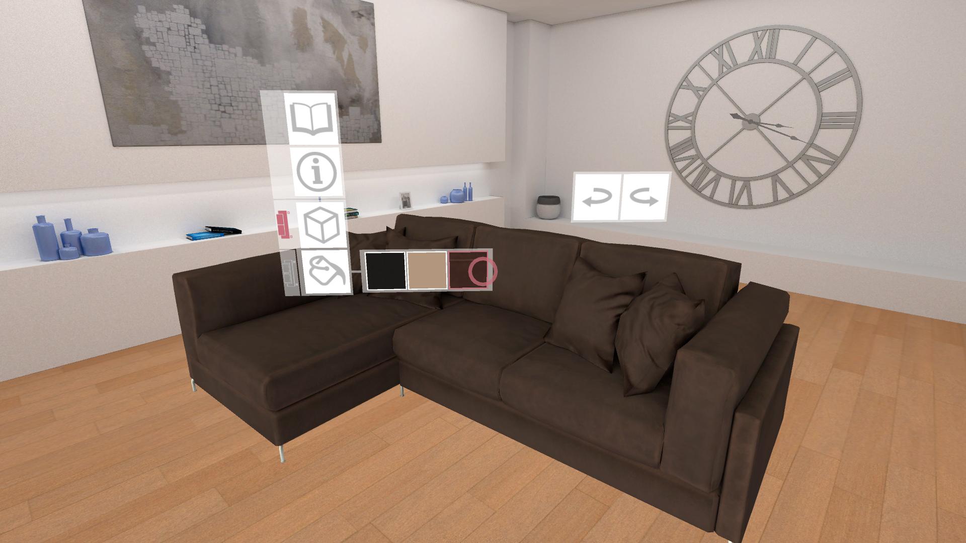 catalogo virtuale divano pelle scamosciata marrone