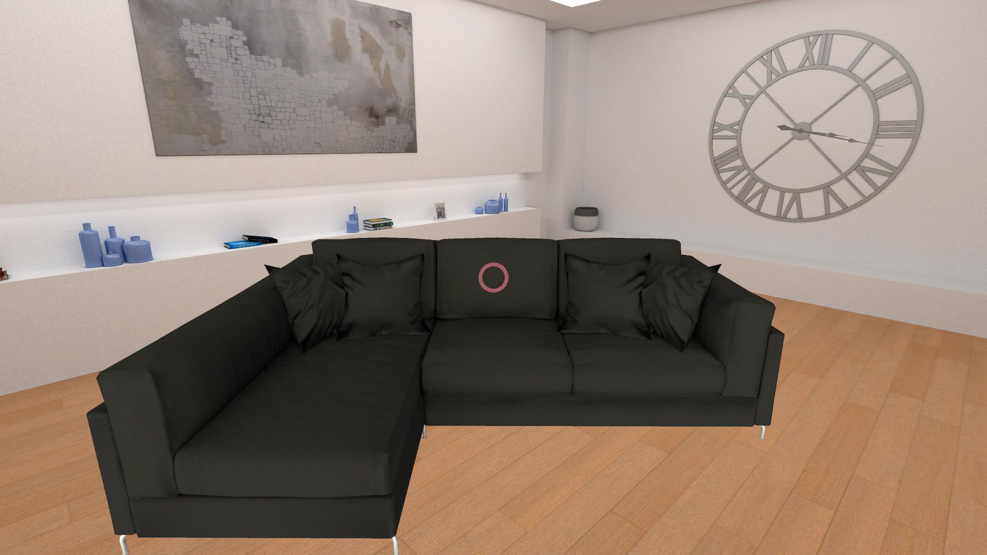 catalogo virtuale divano pelle nera
